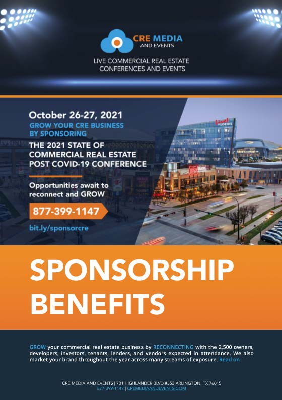 CRE Media And Events Sponsorship Benefits Brochure